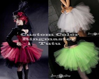 Ultra Ring Master tutu skirt Custom Color huge poofy adult gothic halloween costume carnival dance -- You Choose Size -- Sisters of the Moon
