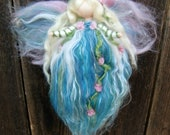 Needle felted wool fairy angel Winter Garden Fairy Waldorf inspired by Rebecca Varon