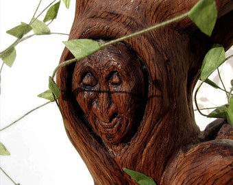 My Nana - Grandma Willow Inspired Wooden Carved Sculpture by Tanja Sova