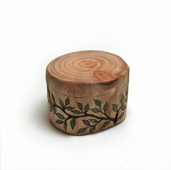 Flawless Imperfection No11 - Rustic Natural Cypress Wooden Ring or Trinket Box by Tanja Sova