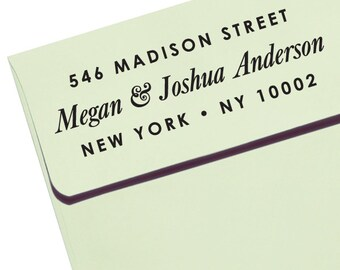 "CUSTOM ADDRESS STAMP - new - Eco Friendly & self inking, for wedding, housewarming, etsy labels, return address stamp ""Name 59"""