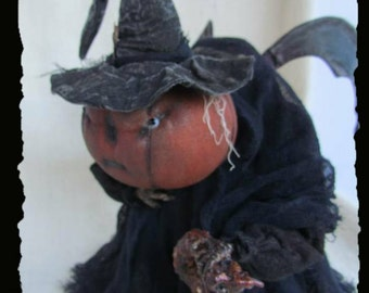 GRUMPLIN,Pumpkin, A Primitive, Folk Art, Hunchback, Doll, HALLOWEEN, E PATTERN