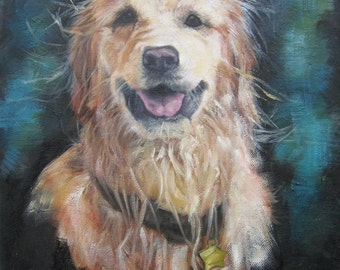 Gorgeous Golden. Original Oil painting ARCHIVAL PRINT 8 by 10 and other sizes available