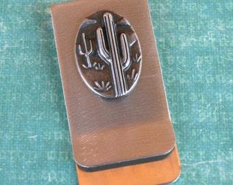 Money / Card Clip - Cactus, Large