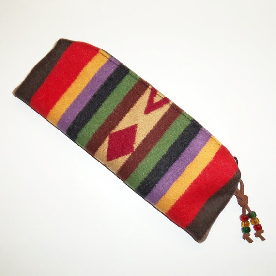 Pendleton Wool Pencil Case Zippered Pouch Accessory Colorful