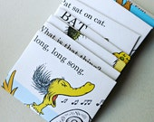 Seuss smalls mix - recycled book pages into envelopes