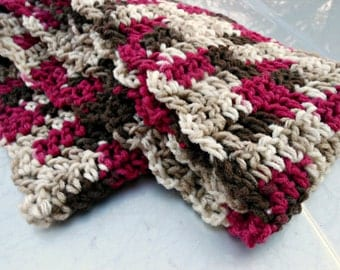 Chocolate Covered Cherries - Handmade crocheted scarf