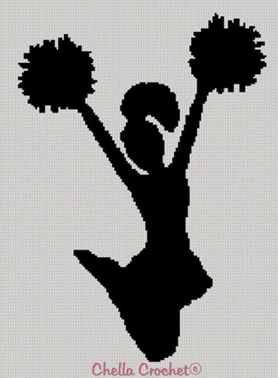 INSTANT DOWLOAD Cheerleader Cheer jump silhouette