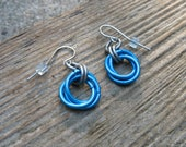 Blue Celtic Rose Earrings (PRICE REDUCED)