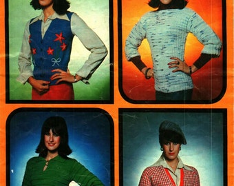 Vintage 70s Hand Knitting Patterns for Women