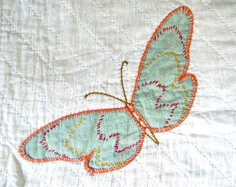 vintage butterfly pillow cover no. 16