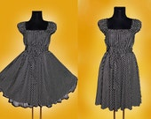 40s 50s STARS RockaBilly swinG DRESS Pin Up Plus Size 16 18 20 Black and White Star Christmas Halloween Party 2x