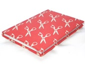 A6 lined Red Scissors Notebook