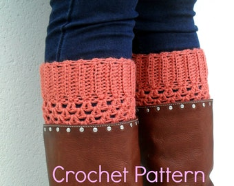 PDF Pattern - Crochet Boot Cuffs -