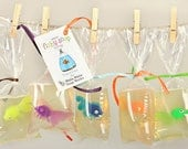 Fishy Soap - 10 pack - Fish in a bag soaps for your party or gift shop - wholesale