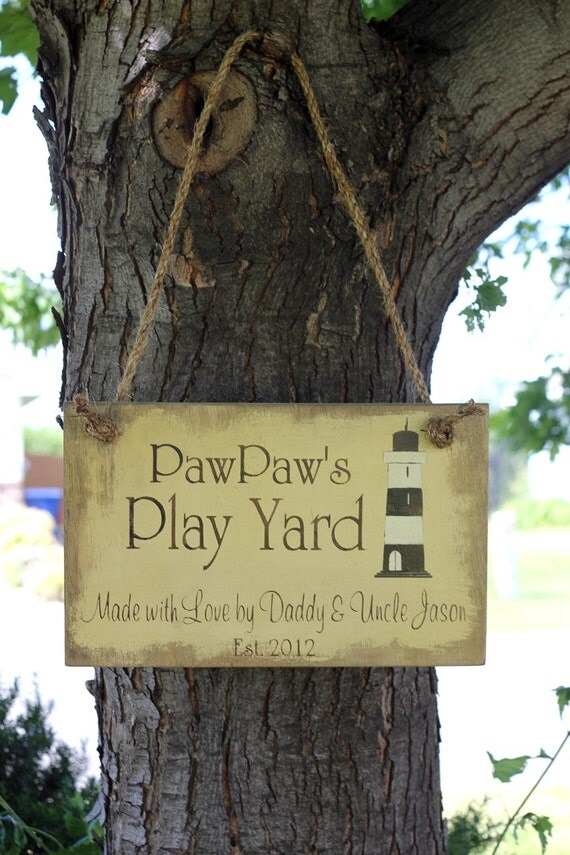 CUSTOM Treehouse/Playhouse/Yard Vintage wood sign YOUR PHRASE, Your Colors, Your Logo