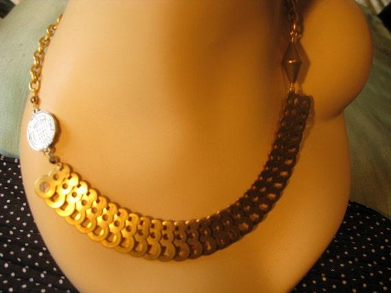 Vintage Chanel Metal Collar Necklace