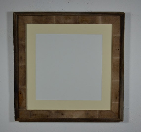 16x16 with 12x12  off white mat earth friendly barnwood frame