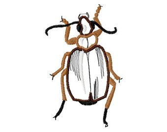 Applique  Beetle Machine Embroidery Designs...1186