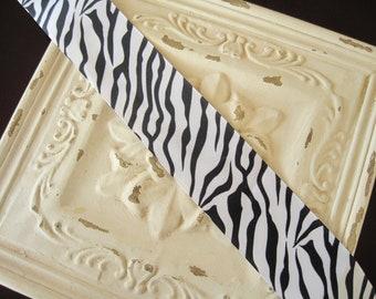 "2"" Zebra Print-Animal Print Grosgrain Ribbon--5 yards"