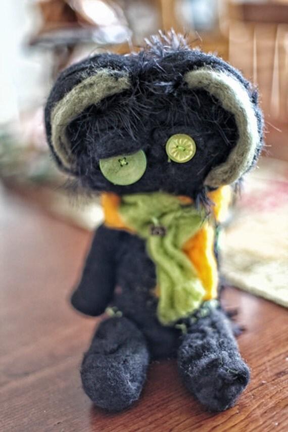 Ella Needle Felt OOAk stuffed animal
