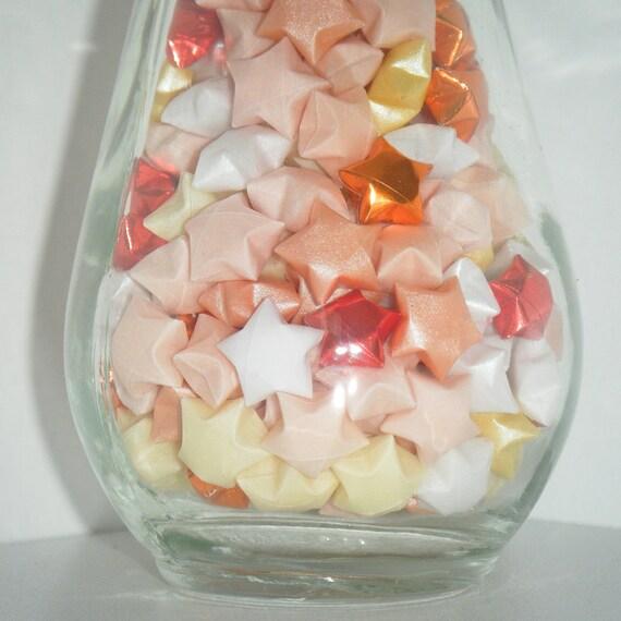 Fireworks  -  Origami Lucky Stars in Glass Bottle