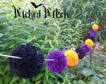 Wicked Witch - Yarn Pom Pom Garland