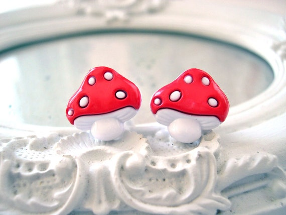 Mushroom plugs for gauged ears 8mm 0g stretched ears