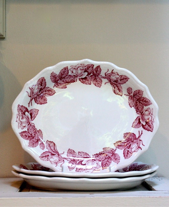 Set of 3 three SYRACUSE china platters/plates LARGE