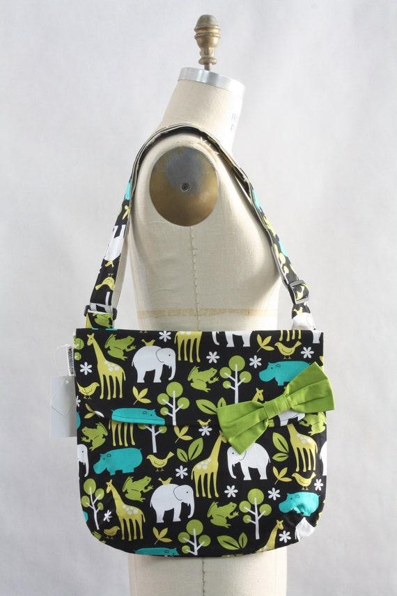Messenger Bag Zoo Animals Cross Body Bag Purse