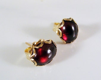 14k Gold Fill Garnet Post Earrings  629