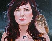 Moon goddess, original painting