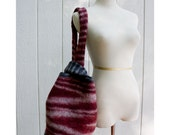 Felted Wool Bag Red and Black - HuzzahHandmade