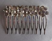 Bridal Hair Wedding Hair Rhinestone Hair Clip Flower Hair Comb Fascinator