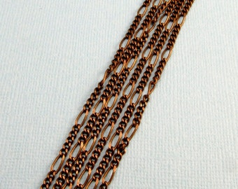 Curb Chain With Elongated Link, Antique Brass, 2-MM, Soldered 6 Ft. AB44