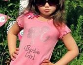 Barbie Girl Rhinestone Pink Frilly Dress