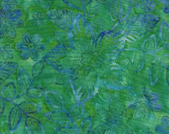 TT Batik Tonga Confetti Jade Fabric 1 Yard c9381