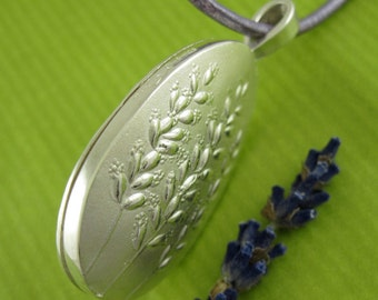 Lavender Sachet, Silver Perfume Locket, Lavender Bouquet Locket - collection Lavande