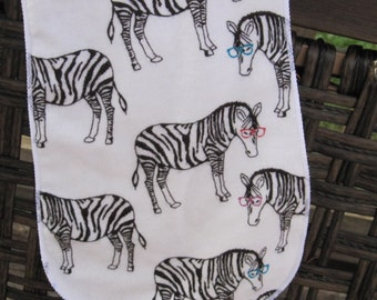 burp cloth, Zebra, hipster zebra