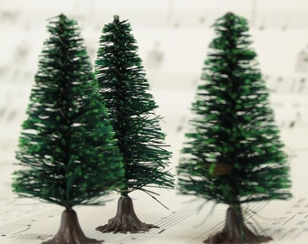 "2"" Bottle Brush Trees - 5 Pieces- 218-0256"