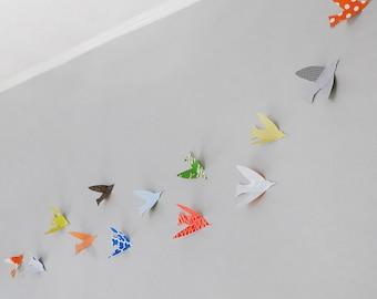 Bird Wall Art, birds, baby wall art, modern nursery art, custom wall art, paper birds, custom baby gift