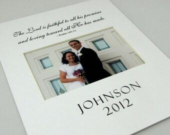 The Lord is Faith Wedding Picture Custom 8 x 10 Photo Mat Design Cust 7