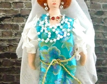William Shakespeare Art Doll Katherine of Taming of the Shrew Miniature Art Collectible