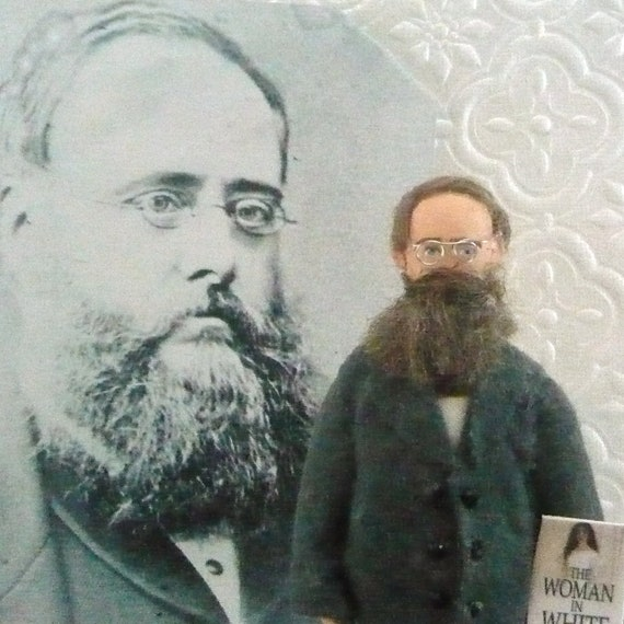 Wilkie Collins Doll MIniature Victorian Writer and Author