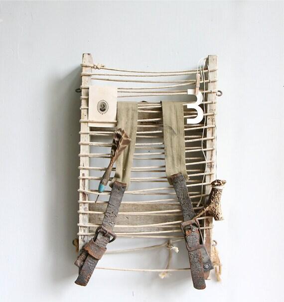Vintage Wood Framed Backpack