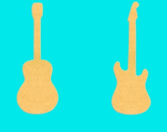 18 Inch Tall Electric or Acoustic Mdf Wood Guitar1/4 Inch Thick