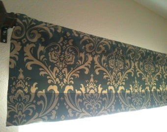 Damask Valance 50in x 14in- Ready to ship