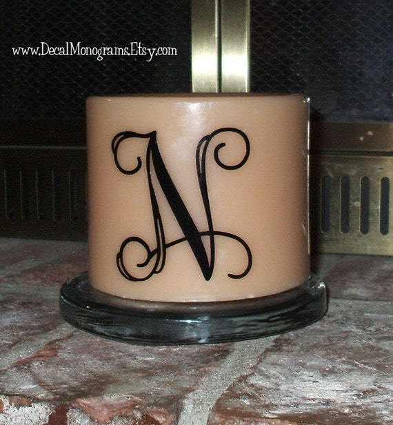 5 inch Personalized Initial Vinyl Decal