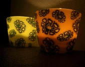 Set of 2 Yellow and Orange Candle Holders... - ArzuMusa