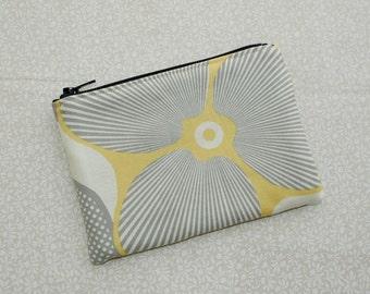 Little Zipper Pouch - Optic Blossom in Linen